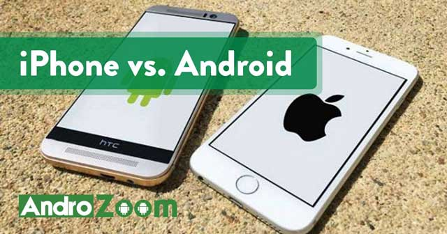 iPhone vs. Android smartphones